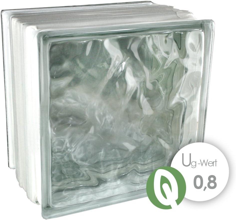 3 pi/èces THERMO BLOCK Plus briques de verre nuage incolore 19,8x19,8x13,5 cm /énergie /économique isolation thermique