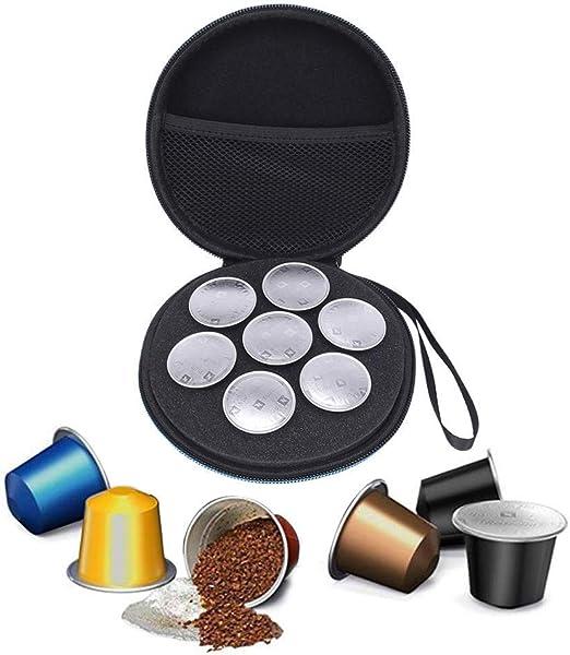 Funda de transporte rígida para cápsulas Nespresso y compatibles ...