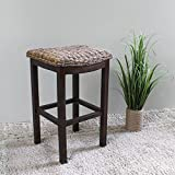International Caravan SG-3354-IC Furniture Piece Arizona Abaca Cushioned Saddle Seat Bar Stool