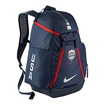 8eb8c5ba016d76 Nike Hoops Elite Max Air 2.0 Team USA Olympics Basketball Backpack BA5280  (Midnight Navy Midnight Navy Metallic Silver)