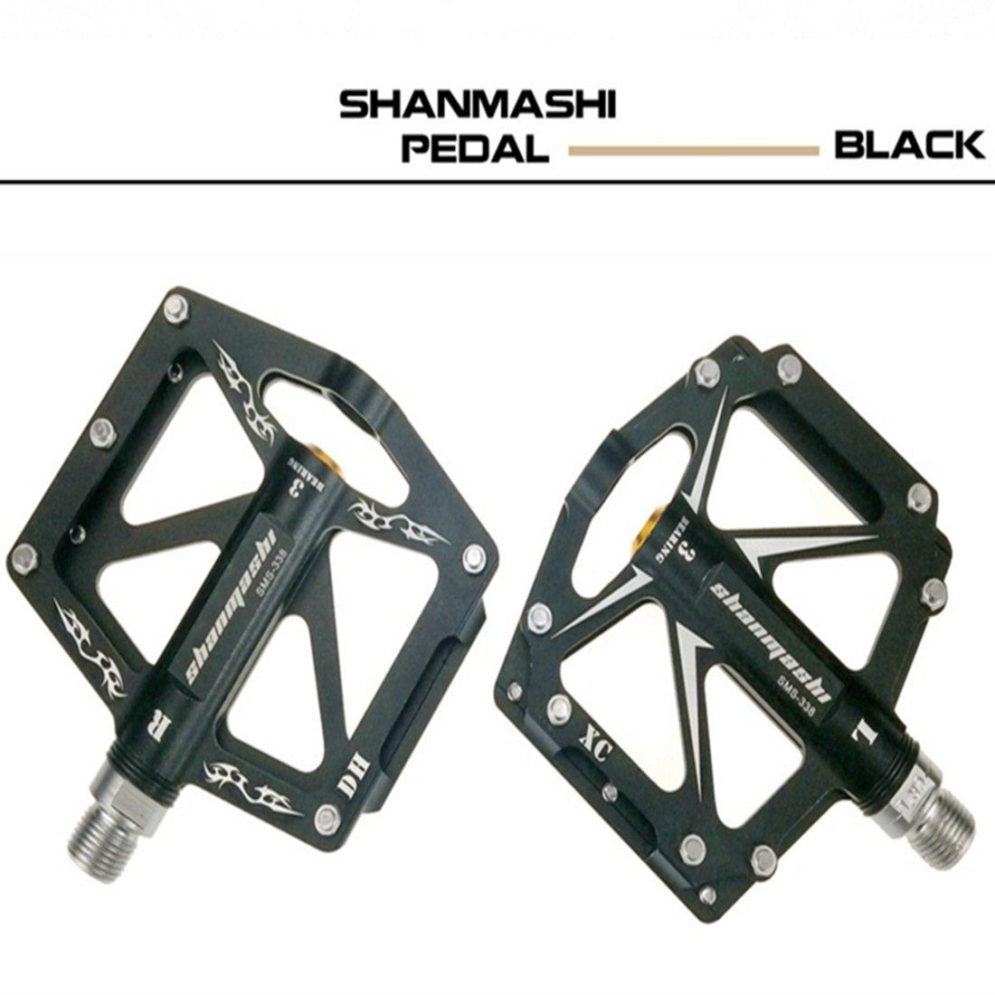 JANFELICIA Doppelseitige DREI-Lager Mountainbike Pedal Aluminiumlegierung Pedal Pedal Road Fixed Gear Fahrrad Pedal