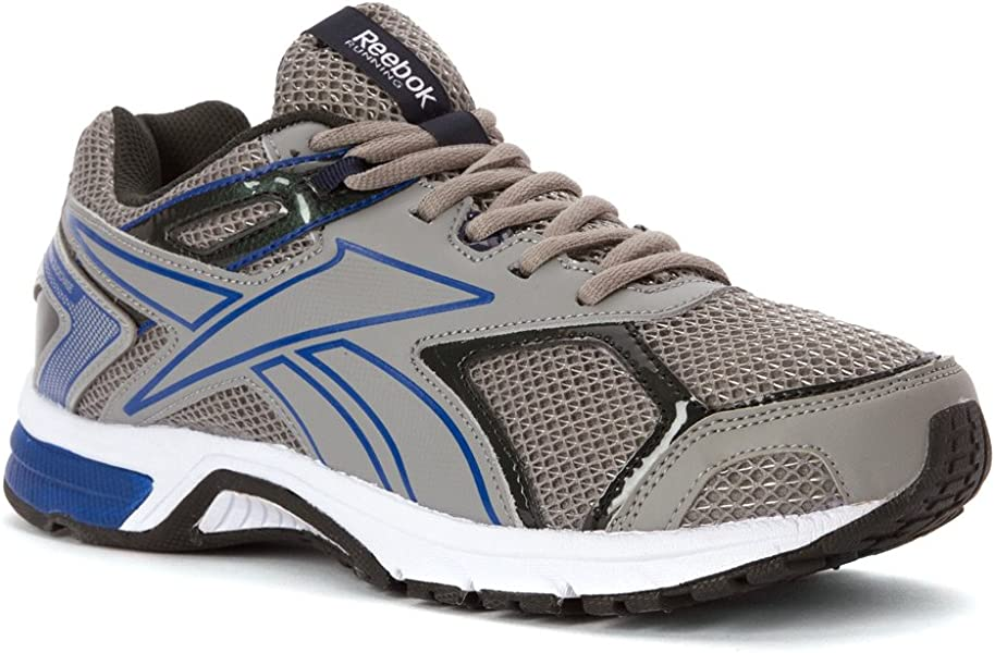 7f604b7af171 Reebok Quickchase Mens Running Shoe 12 Flat Grey-Royal-Gravel