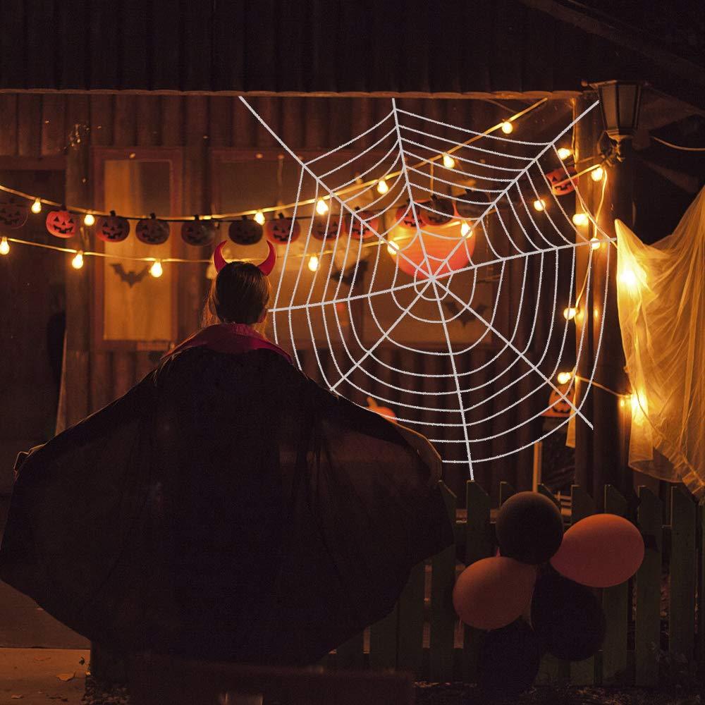 CODIRATO Ragnatela per Halloween Ragnatela Finta per Decorazioni Halloween Feste 3,6M, Bianco