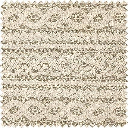 Yorkshire Fabric Shop Patrón de diseño de Damasco Crema Peso ...