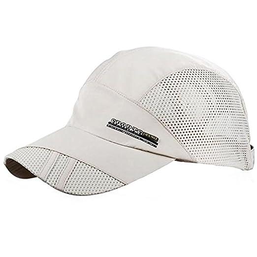YING LAN Men s Autumn Outdoor Sport Baseball Hat Running Visor Sun Cap Beige cb67122a134