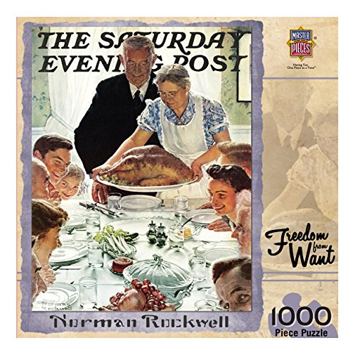 MasterPieces Saturday Evening Post Freedom from Want - 1000 Piece Jigsaw Puzzle by Norman Rockwell