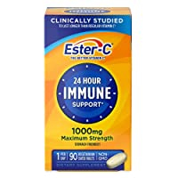 Vitamin C by Ester-C, 24 Hour Immune Support, 1000mg Vitamin C, 90 Coated Tablets