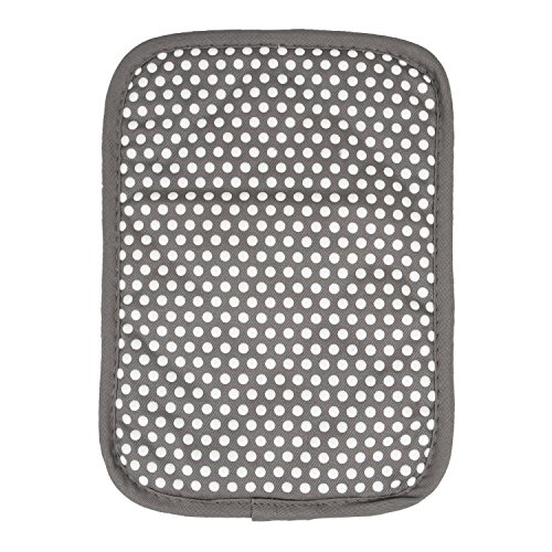 RITZ Royale Reversible Non-Slip Grip Silicone Dot Cotton Twill Pot Holder, Graphite Grey