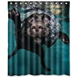 "Popular funny lovely Labrador dog Bathroom Shower Curtain, Shower Rings Included 100% Polyester Waterproof 60"" x 72"""