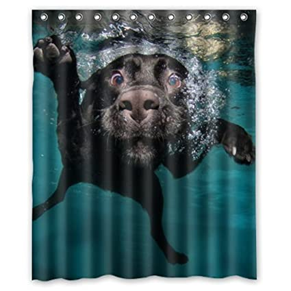 Incroyable Popular Funny Lovely Labrador Dog Bathroom Shower Curtain, Shower Rings  Included 100% Polyester Waterproof