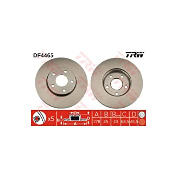 TRW Automotive AfterMarket DF4465 disco de freno: Amazon.es: Coche y ...