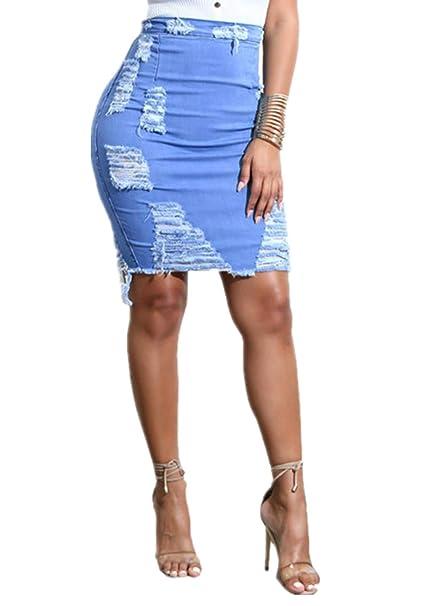 659ac2a4aa CANDLLY Faldas de Fiestas Playa Vacaciones Guapas Mini Faldas Cortas para  Mujeres Falda Lisa Azul Claro Vestidos Hermosos Regalos para Mamá y  Hermanas ...