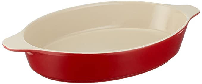 Amazon.com: The Mexican Kitchen by Rick Bayless Ceramic Baker, Medium, Red: Kitchen & Dining