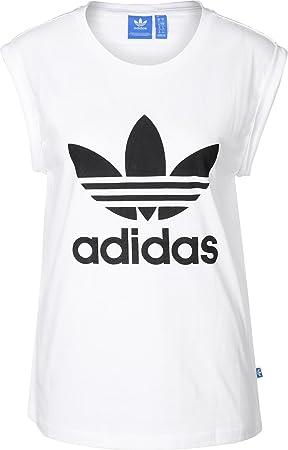 Adidas BF TRF RU tee Camiseta, Mujer, Blanco, 44: Amazon.es: Deportes y aire libre