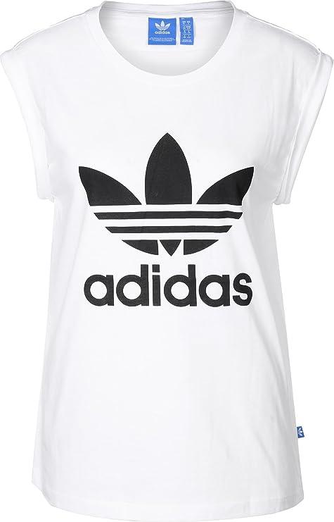 Adidas BF TRF RU tee Camiseta, Mujer, Blanco, 44
