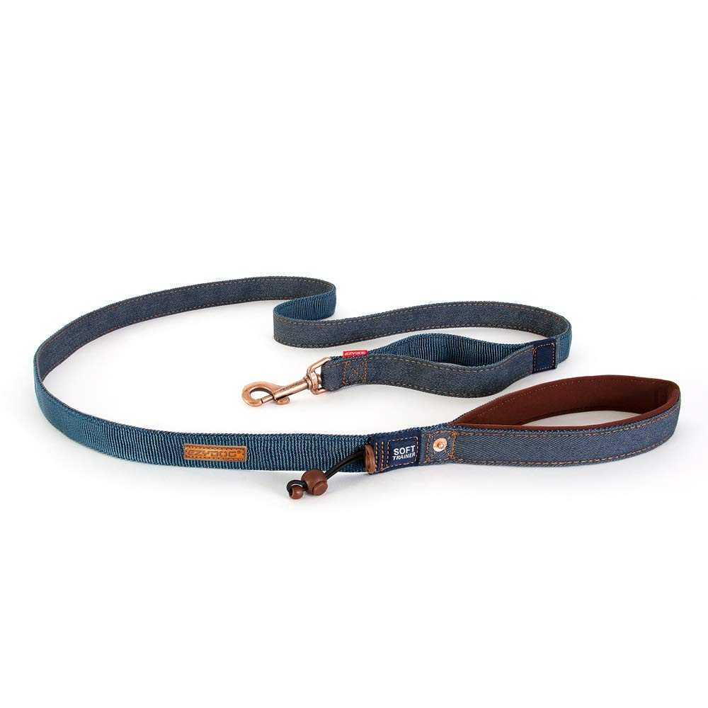 Denim L Denim L EzyDog Soft Trainer Leash (L, Denim)