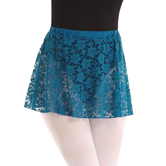 dPois Falda Ballet Danza Mujer Encaje Flores Falda para Ballet ...