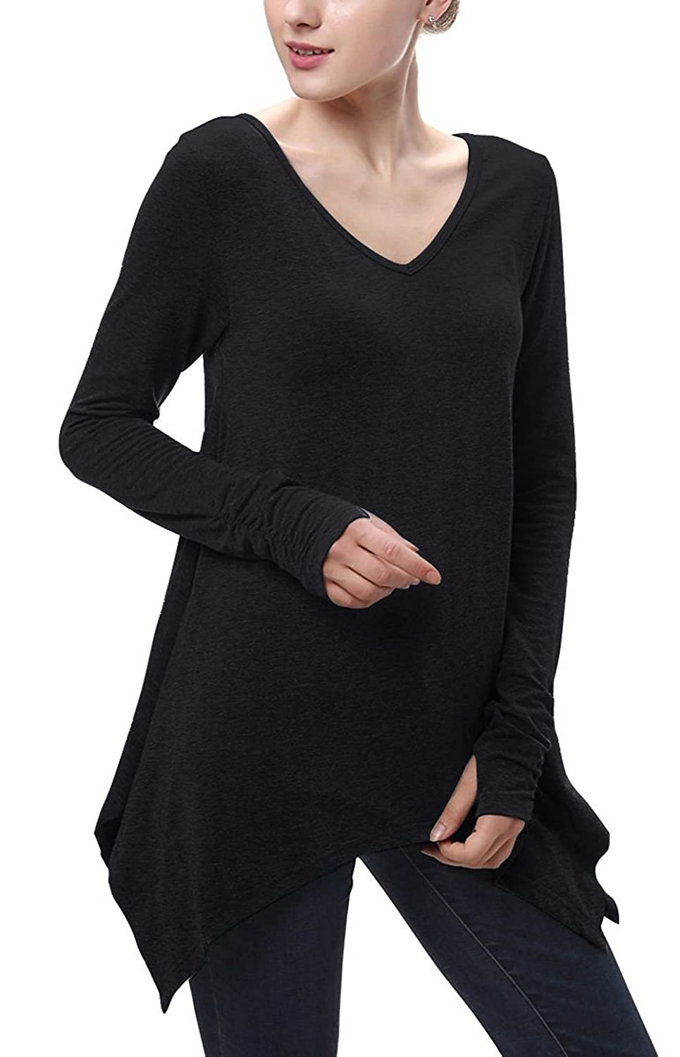 Twippo Women V-Neck Long Sleeve Casual Top