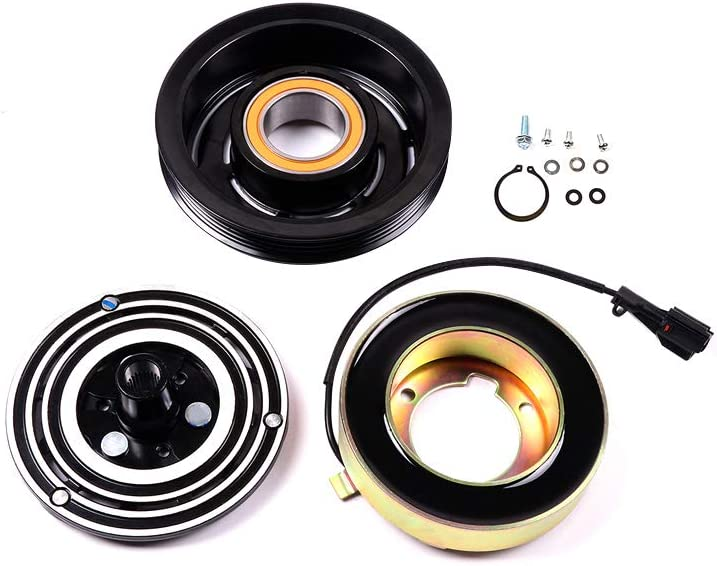 ROADFAR Air Conditioning Compressor Clutch Kit fit for CO 10791RW 2003 2004 2005 2006 2.5L Subaru Forester