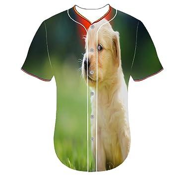 Uqingqujin 3D Camiseta Estampada Cuello Redondo Béisbol ...
