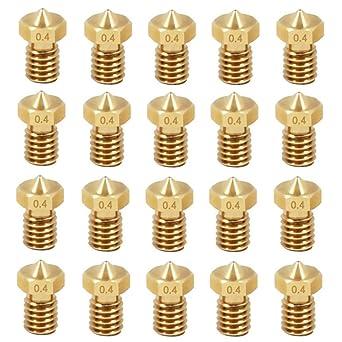 yyuezhi 20 Piezas de Boquilla Extrusoras 0.4mm Boquillas Extrusora ...