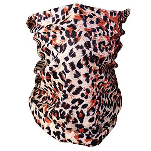 Triple9 Automotive Gear Balaclavas Seamless Face Mask Bandanas (Leopard)