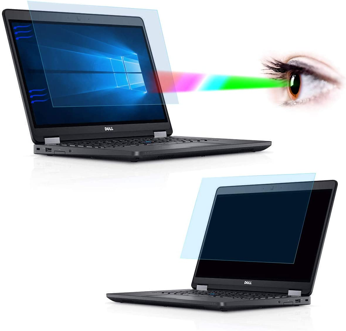 [2 Pack] 14 Inch Screen Protector, Blue Light and Anti Glare Filter Screen Cover for Dell Latitude E7450 E7470 E5470 E7480 5480 5490 7490 14 Inch Laptop Eye Protection Blue Light Blocking Filter