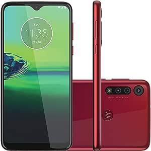 Celular Motorola Moto G8 Play Vermelho Magenta 32gb Câmera Tripla 13mp + 8mp + 2mp
