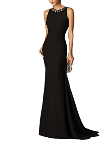 PromCC Womens Backless Mermaid Evening Dress Beaded Long Celebrity Gown PEV137