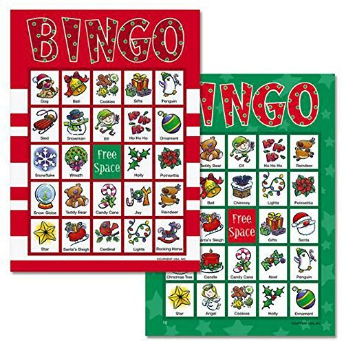 BrightandBold Christmas Bingo Game for 18 Players