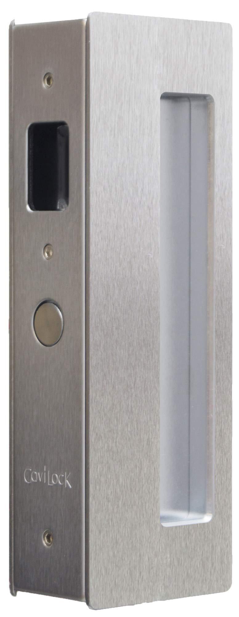 Cavilock CL400A0129 Magnetic Latching Passage Pocket Door Pull for 1-3/4 Inch Door Thickness