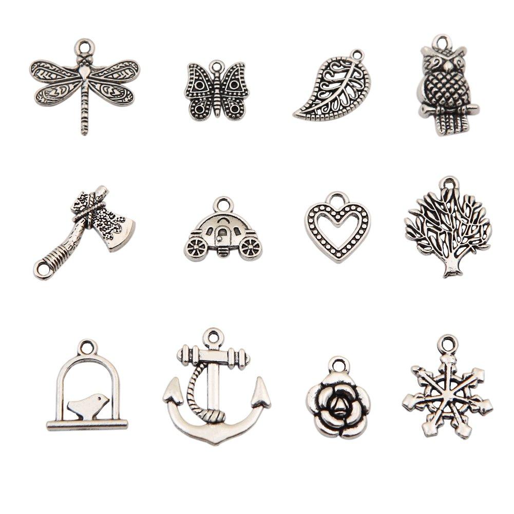 amazon com bingcute 100pcs wholesale bulk lots tibetan silver