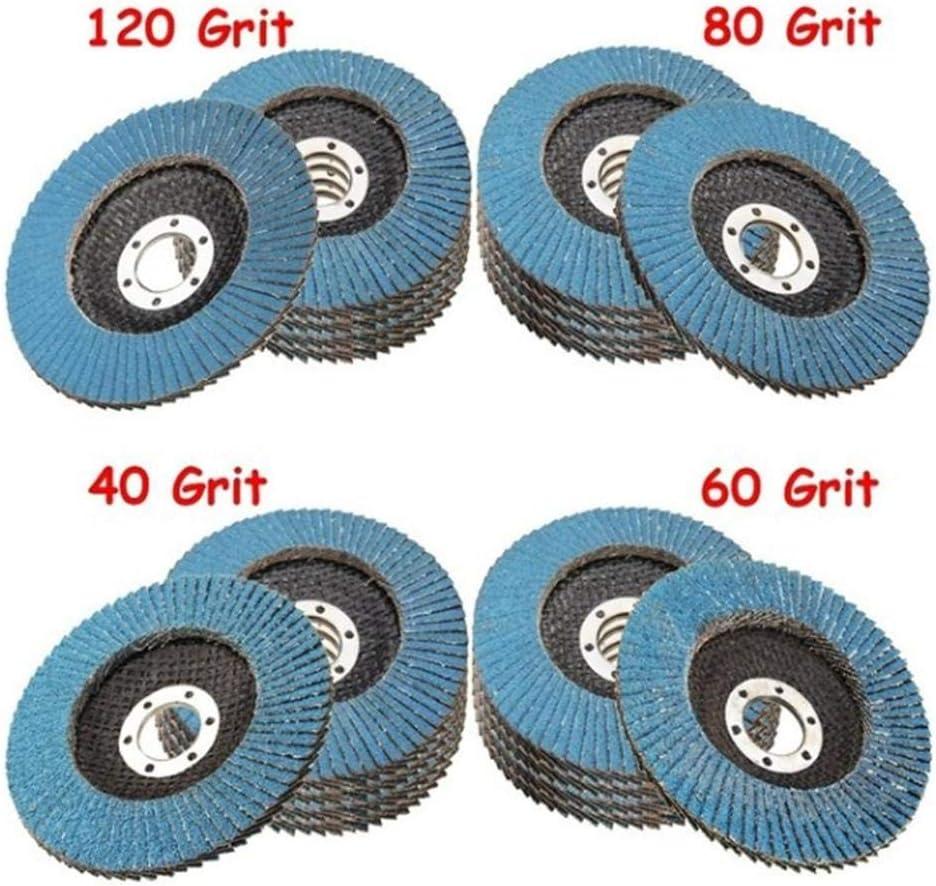 Rikey 10pcs Professional Flap Discs 4.5 Sanding Discs 40//60//80//120 Grit Grinding Wheels Blades Angle Grinder