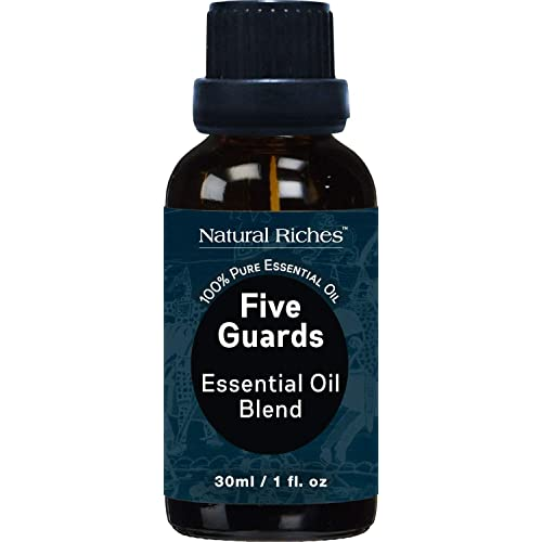 Five Guards Synergy Blend, Aromatherapy Essential Oils 30 ml 100% Pure Natural Therapeutic Grade Best Health Shield