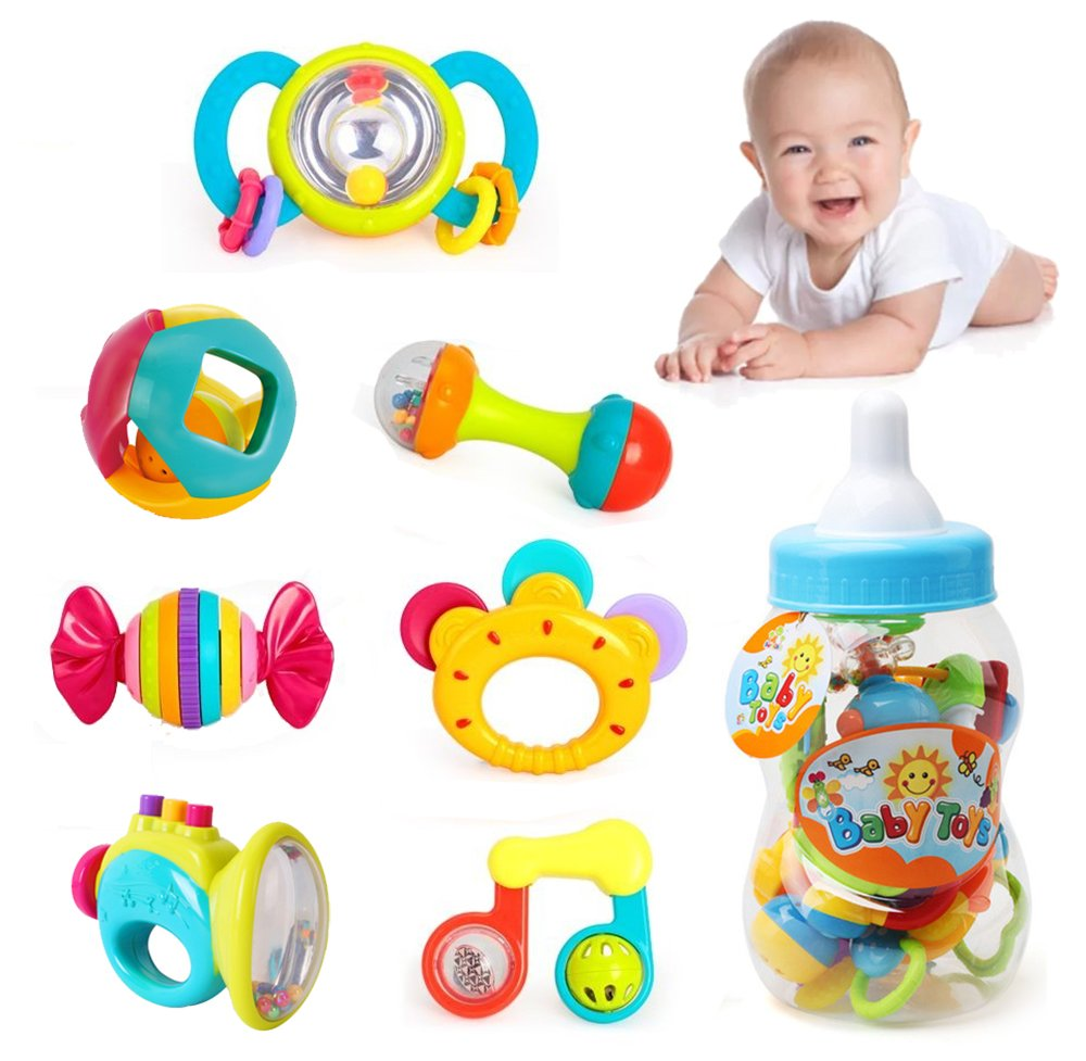 Baby Rattles & Mobiles Lower Price with Baby Cute Cartoon Animal Colorful Soft Plastic Chick Shaker Bell Grasp Rattles Ball Grasping Griping Holes Balls Toy