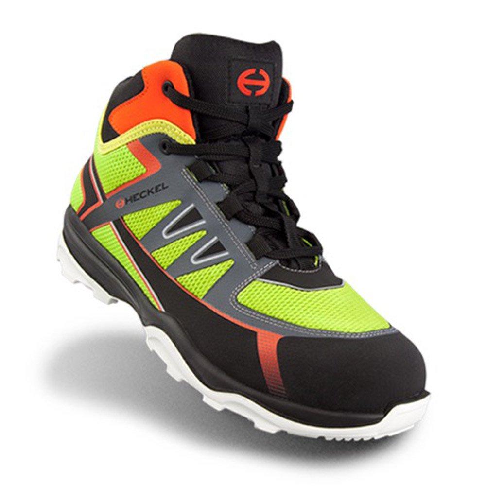 Heckel RUN R S1P SRC calzature da lavoro / sicurezza Scarpe stile moderno, ultra leggero, 100% metallo libero  Vert HIGH