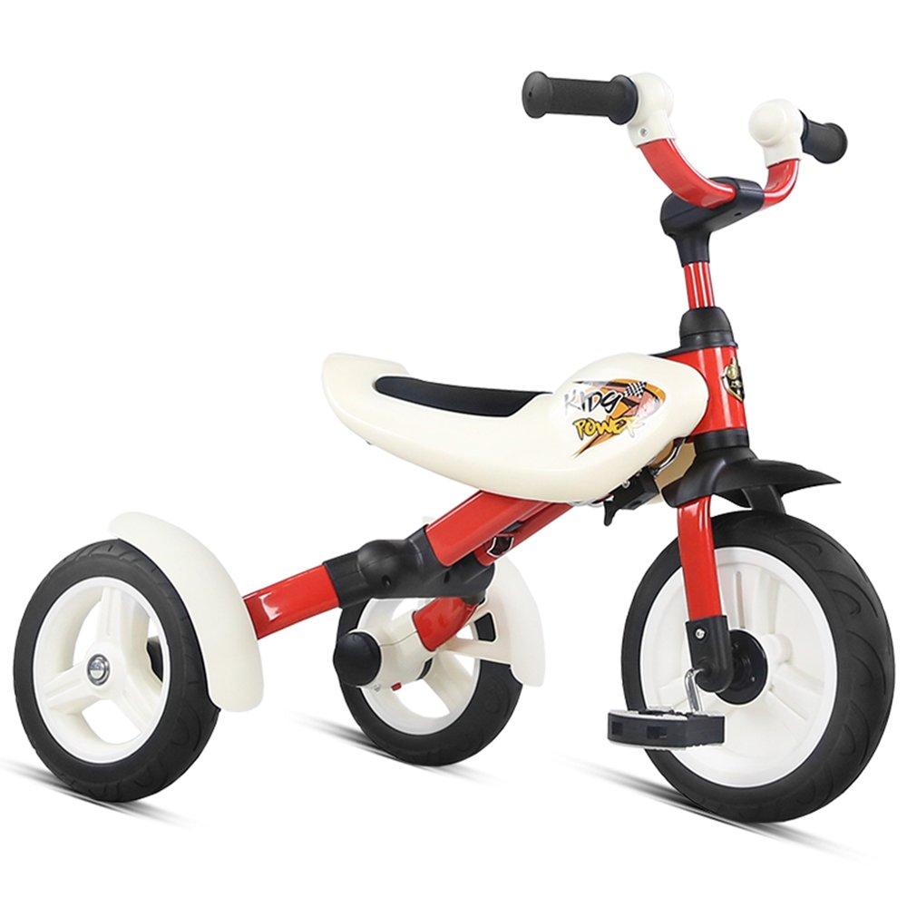 HAIZHEN マウンテンバイク 子供用三輪車折りたたみ式子供用自転車36歳の子供用折りたたみ式 新生児 B07C6S2RBQ 白 白