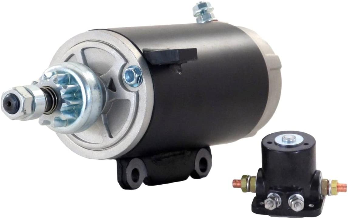 Rareelectrical STARTER MOTOR COMPATIBLE WITH & SOLENOID JOHNSON MARINE OUTBOARD 120 125 135 HP 585057 585196