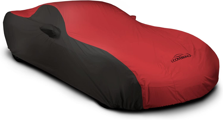 FS12654F5 Fleeced Satin Covercraft Custom Fit Car Cover for Select Ferrari F40 Models Black