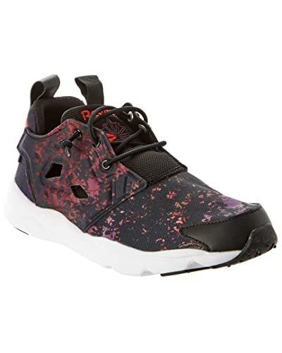 736d6c05c8d Reebok Women s Furylite SR Black Poppy Red Night Violet White Athletic Shoe