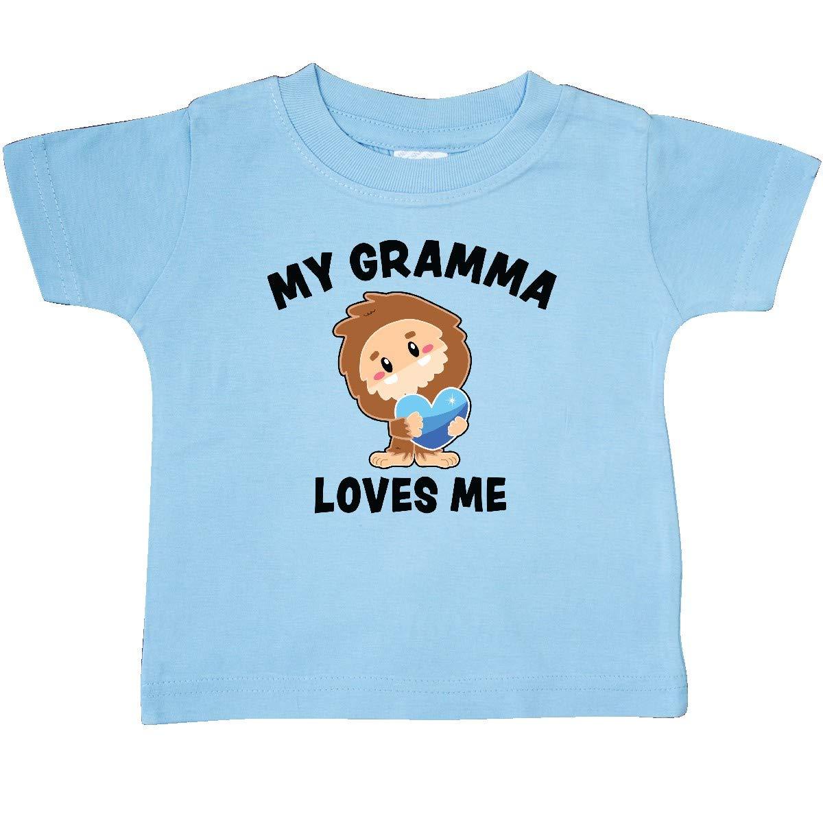inktastic Cute Bigfoot My Gramma Loves Me Baby T-Shirt