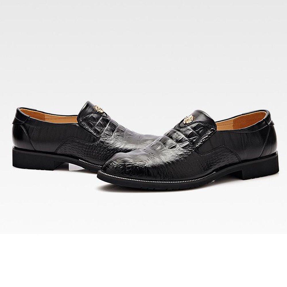 Amazon.com | Battle Men Mens Dress Shoes Breathable Leather Crocodile Skin Texture Business Loafers for Gentleman Fashion (Color : Black, Size : 6.5 MUS) | ...