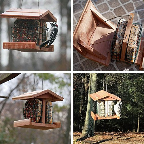 Worth Garden Cedar Bird Feeder with Double Suet Holder Double Suet Holder