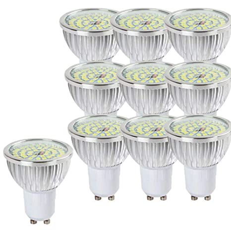 NUOXIN - Bombillas LED (10 unidades, 6 W, GU10, 6000 K,