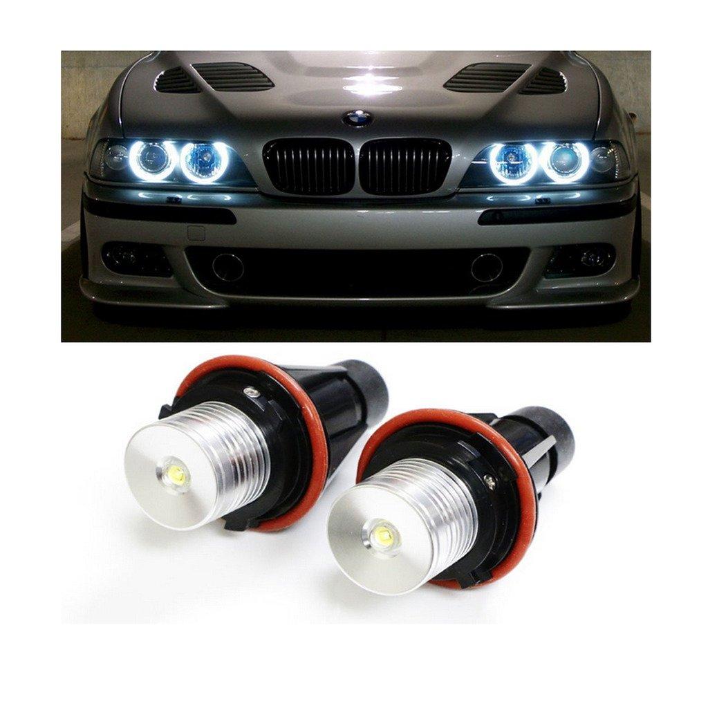 2 unidades luz LED EHAO de alta potencia 5W 7000 K, color blanco. Bombillas ojos de á ngel. color blanco. Bombillas ojos de ángel. Río amarillo