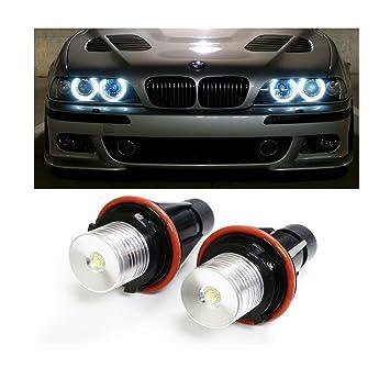 2 unidades luz LED EHAO de alta potencia 5W 7000 K, color blanco. Bombillas ojos de ángel.: Amazon.es: Coche y moto