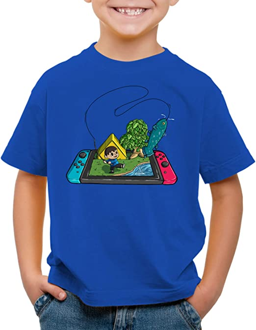 style3 Crossing Pez Camiseta para Niños T-Shirt Switch Animal ...