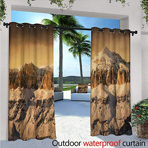 - Mountain Outdoor- Free Standing Outdoor Privacy Curtain W84