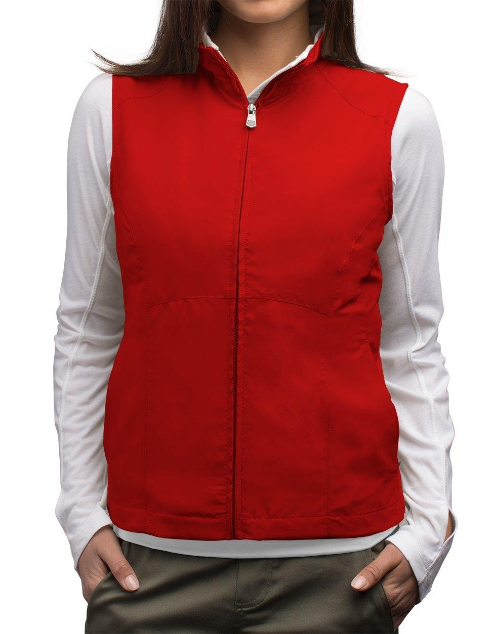SCOTTeVEST Women's Travel Vest - 17 Pockets Travel Clothing RED XL