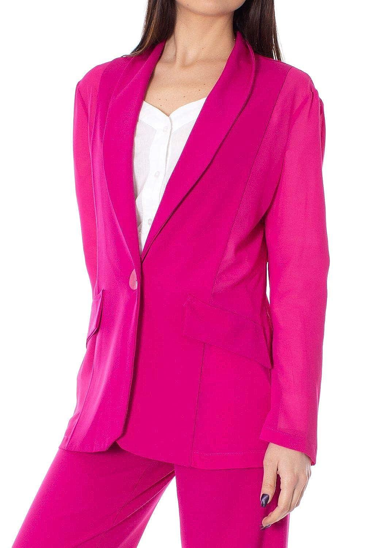 TALCO Womens 18G158FUCHSIA Fuchsia Polyester Blazer